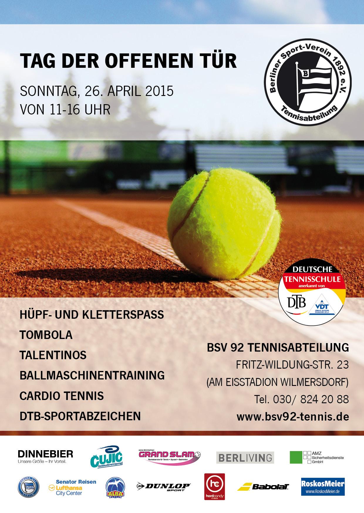 Wann ist tag der offenen tür  Tag der offenen Tür beim BSV - Tennis-Verband Berlin-Brandenburg e.V.